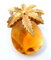 Vintage ' Autumn Haze ' Pineapple Design Brooch By Sarah Coventry.